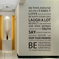 English Proverbs Wall Sticker Family House Rules Wall Stickers Decal Removable Decor Home Kids Great Gift Wallpapers House Rules Wall Sticker Familystickers Family Aliexpress