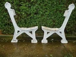 cast iron bench ends vintage garden