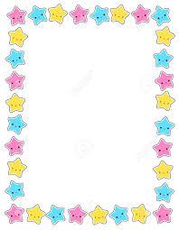 Lindo Estrellas De Colores Frontera Marco Para Las Tarjetas De
