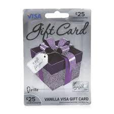 vanilla visa card 25 gift card wilko