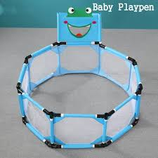 Baby Playpen Foldable Portable Square Safety Fence Children Toddler Kids Playinghouse Interactive Kids Toddler Room Indoor Outdoor Play With Safety Gate Walmart Com Walmart Com