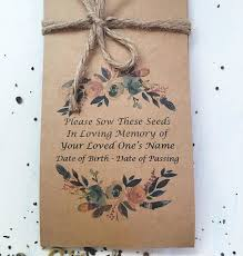 memorial forget me not seed packets