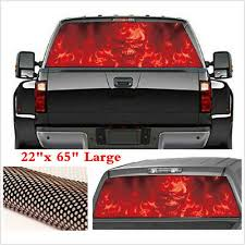 1 Pcs Personalised Car Rear Window Sticker Red Flaming Skull Decals Universal Archives Statelegals Staradvertiser Com