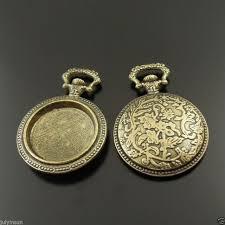 antique bronze tone pocket watch charms