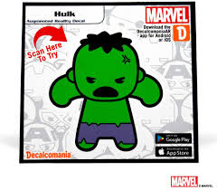 Amazon Com Marvel Avengers Hulk Kawaii Augmented Reality 3 Vinyl Decal All Weather Proof Sticker For Any Surface For Kids And Adult Automotive