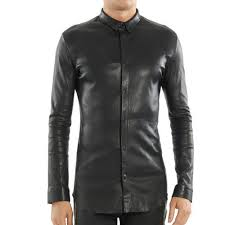 black mens leather shirt rs 4509 4