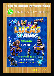 Invitaciones Digitales Whatsapp E Imprimibles Clash Royale 75