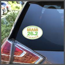 Miami 26 2 Marathon Finisher Decal Or Car Magnet Charmed Running