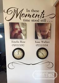 In These Moments Time Stood Still Photo Picture Wall Vinyl Etsy Time Stood Still In This Moment Wall Decal Sticker