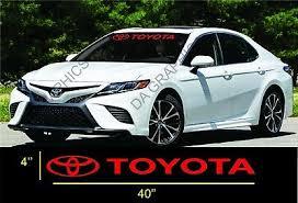 Trd Pro Toyota Windshield Banner Vinyl Long Lasting Premium Decal Sticker 40 Mccarthy Construction Com