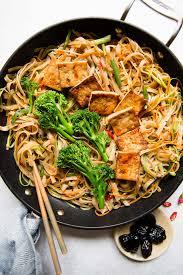 tofu stir fry noodles with dried plum