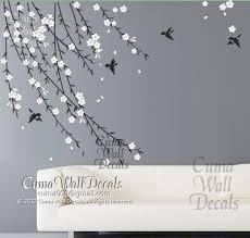 Cherry Blossom Birds Nursery Wall Decals Cuma Wall Decals