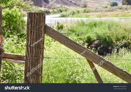 Barbed Wire Fence Corner Post Forgotten Stock Photo Edit Now 542328457