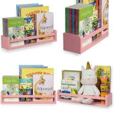 Childrens Wall Mounted Floating Shelf For Nursery Decor Kid S Room Bookshelf For Sale Online Ebay