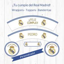 Real Madrid Decoracion Cumpleanos Wrapper Topper Realmadrid
