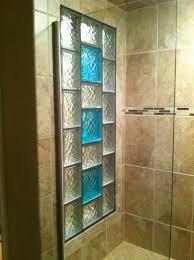 glass acrylic block tub shower window