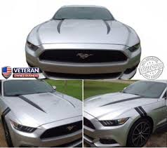 2015 Up Ford Mustang Cowl Hood Spears Stripes Vinyl Graphics 5 0l Gt Roe Graphics And Apparel