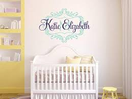 Amazon Com Nursery Wall Decal Girl Name Wall Decal Heart Wall Decal Personalized Name Decal Monogram Wall Decal Nursery Decor Nursery Wall Decal Made In Usa Big Size Home Kitchen