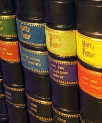harry potter leather bound books