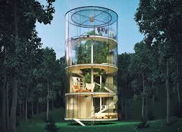 tree lives inside this gorgeous glass