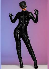 womens black catwoman costume