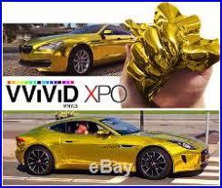 Vvivid Gold Supercast Chrome Car Vinyl Wrap Roll Bubble Free Decal 10ft X 5ft Bubble Wrap Rolls