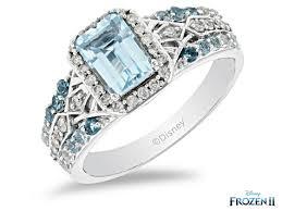 enchanted disney elsa ring blue topaz