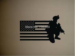 Army Gun Vinyl Wall Decal Military Soldier Army Men With Us Flag Old Glory Wall Sticker Bar Home Decoration Kid S Room Sticker Kids Room Stickers Vinyl Wall Decalsroom Stickers Aliexpress