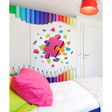 Shop Puzzles Sticker Puzzles Decal Rainbow Wall Decor Kids Room Wall Art Nursery Overstock 31914115
