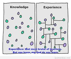 knowledge vs experience quote