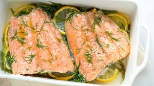Baked Salmon Recipe with Lemon and Dill ...