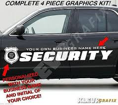 Custom Security Company Vehicle Vinyl Graphics Decals Kit Police Badge1 Ebay
