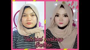 tutorial makeup barbie hijab you