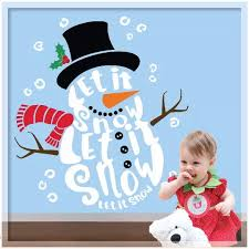 Let It Snow Quote Wall Decal Art Vinyl Snowman Wall Sticker Kids Room Diy Adhesive Mural Home Decor Glass Window Decals Newlc148 Quote Wall Decal Wall Decalswindow Decals Aliexpress