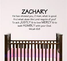 Boy Nursery Wall Decal Wall Art Micah 6 8 Etsy