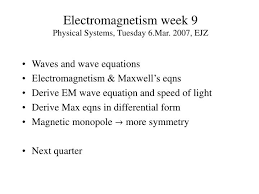 ppt electromagnetism week 9 physical