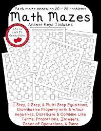 no prep ready to print math mazes