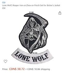 Would I Be Alright Wearing This On My Vest Or Maybe Even Just The Text If The Reaper Is A Problem Sorry If It Seems Like A Stupid Question Motorcycle