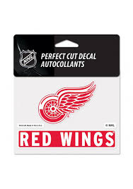 Detroit Red Wings Team Name And Logo Auto Decal Red 5715167