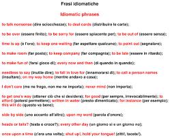 Inglese: Frasi ideomatiche – Docu.Plus