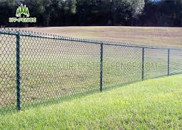 Green Pvc Coated Steel Chain Link Fence 2 5 3 5mm Wire For Residence Security