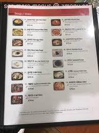 menu of spoon korean kitchen