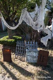 Diy Halloween Graveyard Ideas How To Make A Halloween Cemetery Entertaining Diva From House To Home