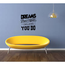 Shop Beautiful Inscription Dreams Don T Work Unless You Do Wall Art Sticker Decal Free Shipping On Orders Over 45 Overstock 11540344