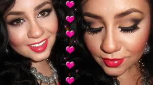 y valentine s day makeup using