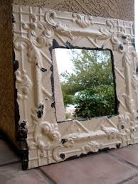 architectural salvage cream mirror