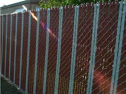 Chain Link Fence With Slats For Privacy Protection Sound Barrier