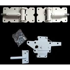 Self Closing Vinyl Fence Gate Single Gate Hardware Kit White For Vinyl Pvc Etc Fencing Fence