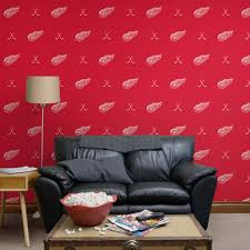detroit red wings sticks pattern red