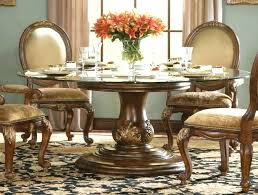 wood dining table 60 inch pedestal